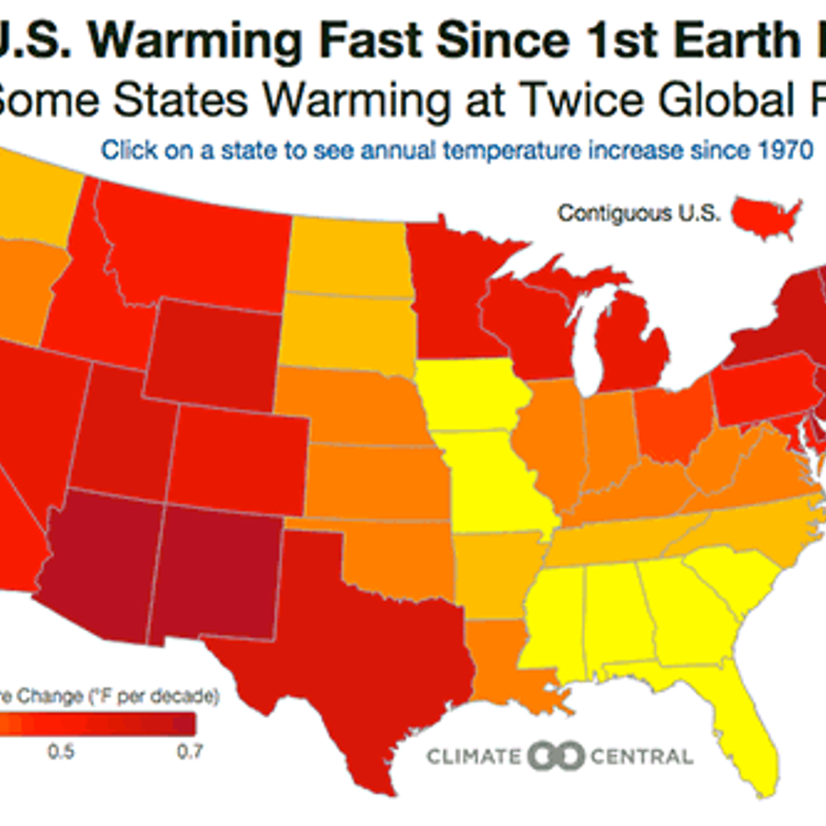 Climate change by state: An interactive map of the U.S. ...