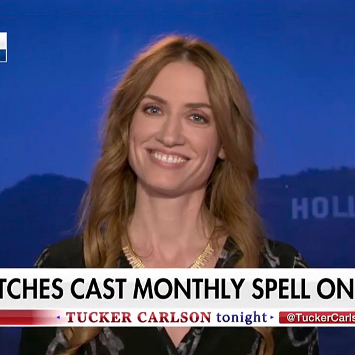 Amanda Moon Ray watch a witch fully dismantle tucker carlson on his own show