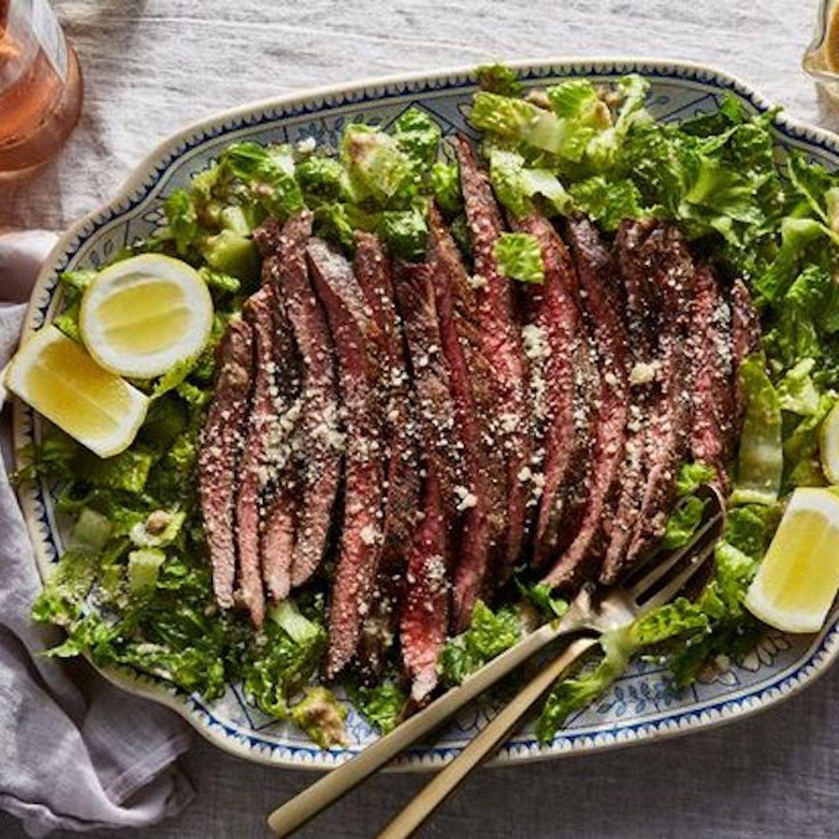 This steak caesar has 5 ingredients (yep, including the dressing)