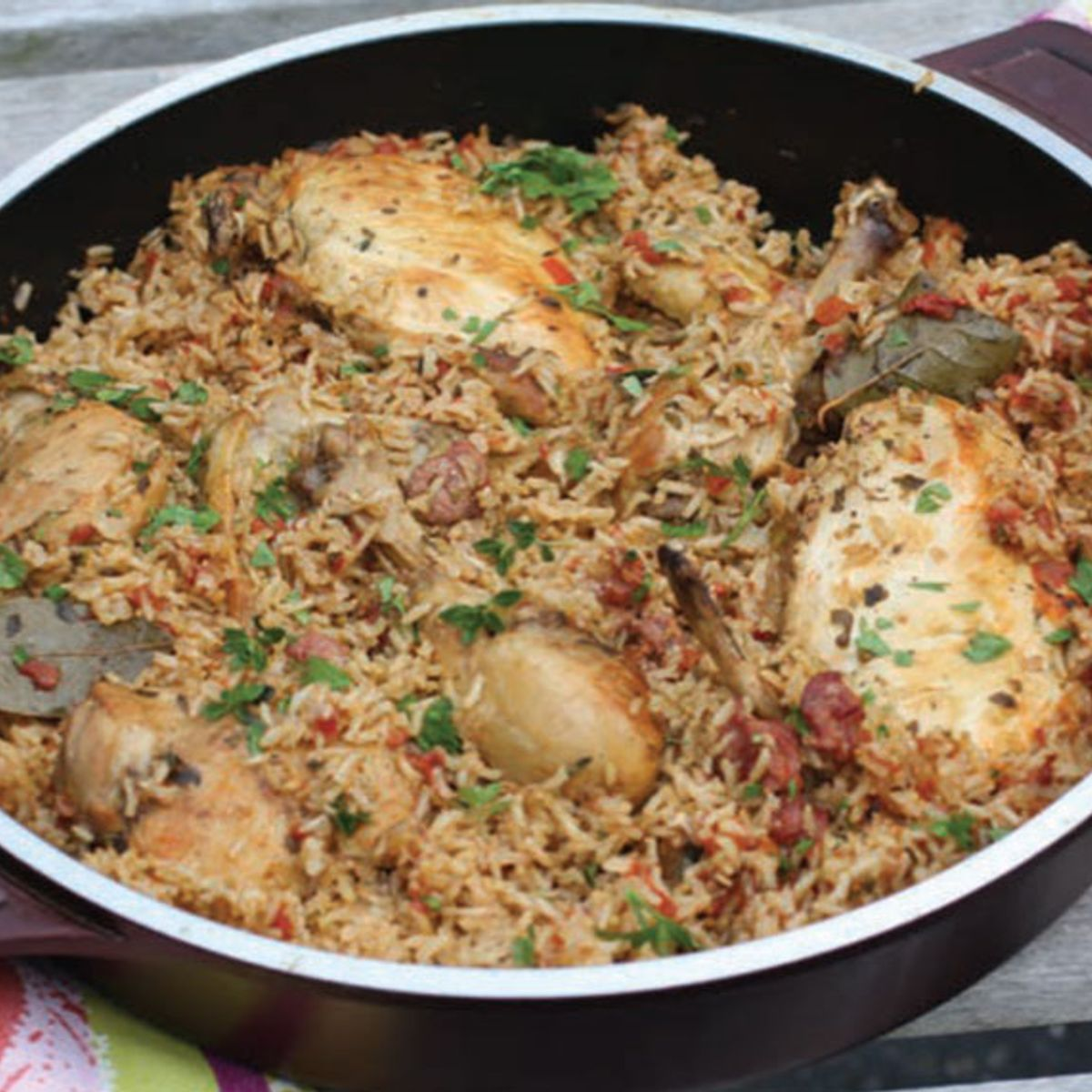 Full of flavor and full of satisfaction, arroz con pollo is one delicious Latin dish