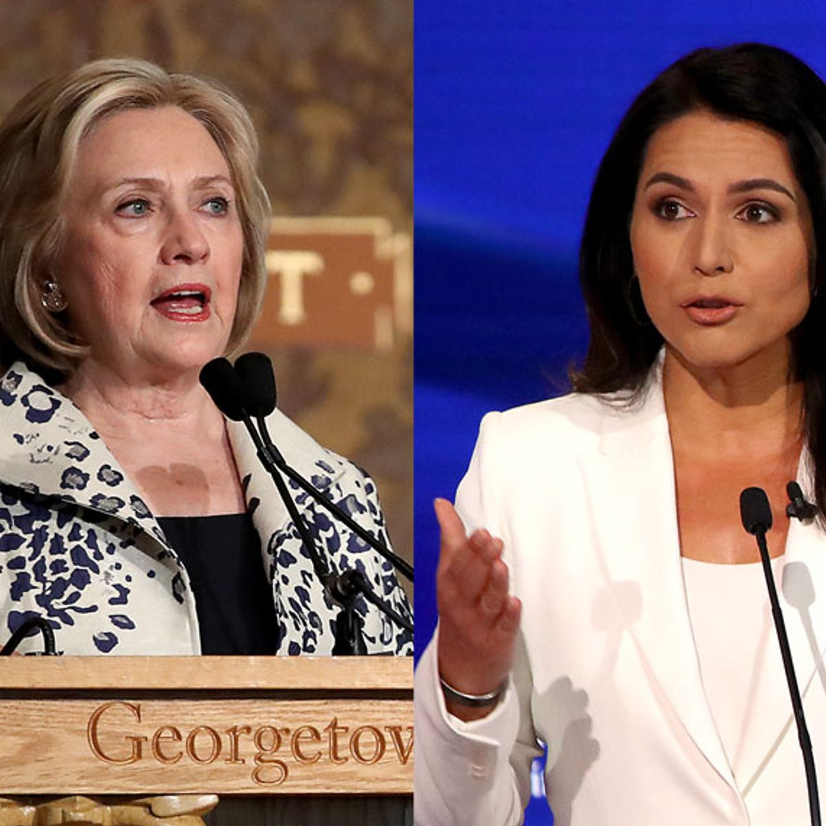 """Hillary Clinton pushes theory that Russia is """"grooming"""" Tulsi Gabbard — who hits back on Twitter"""