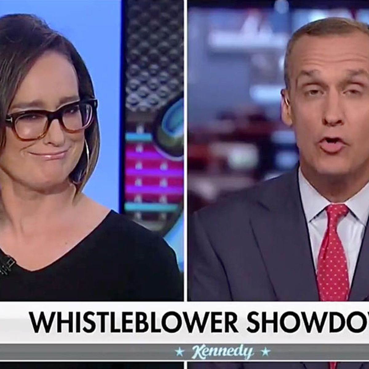 """Fox host asks Corey Lewandowski if he is drunk on air: """"Did you have a little merlot with dinner?"""""""