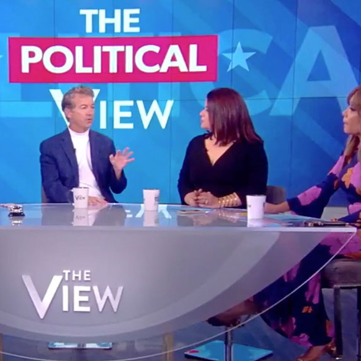 """The View"" audience cheers Republican co-host Ana Navarro whenshe tells Rand Paul not to ""mansplain"""