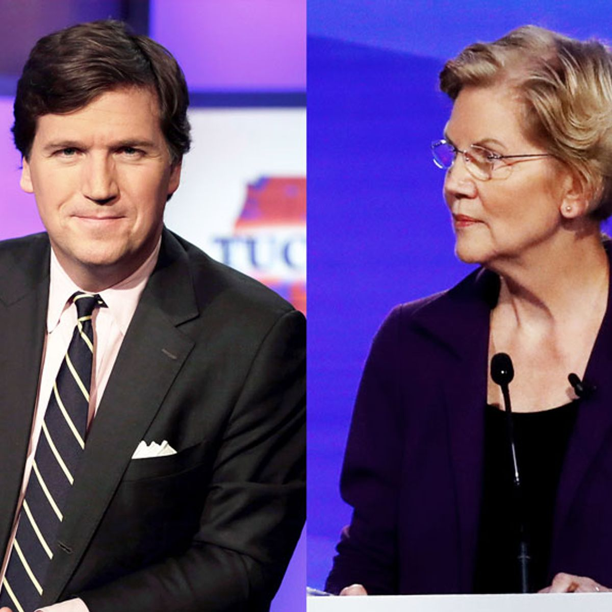 Fox News host Tucker Carlson accuses Elizabeth Warren of lying about sexual harassment allegation
