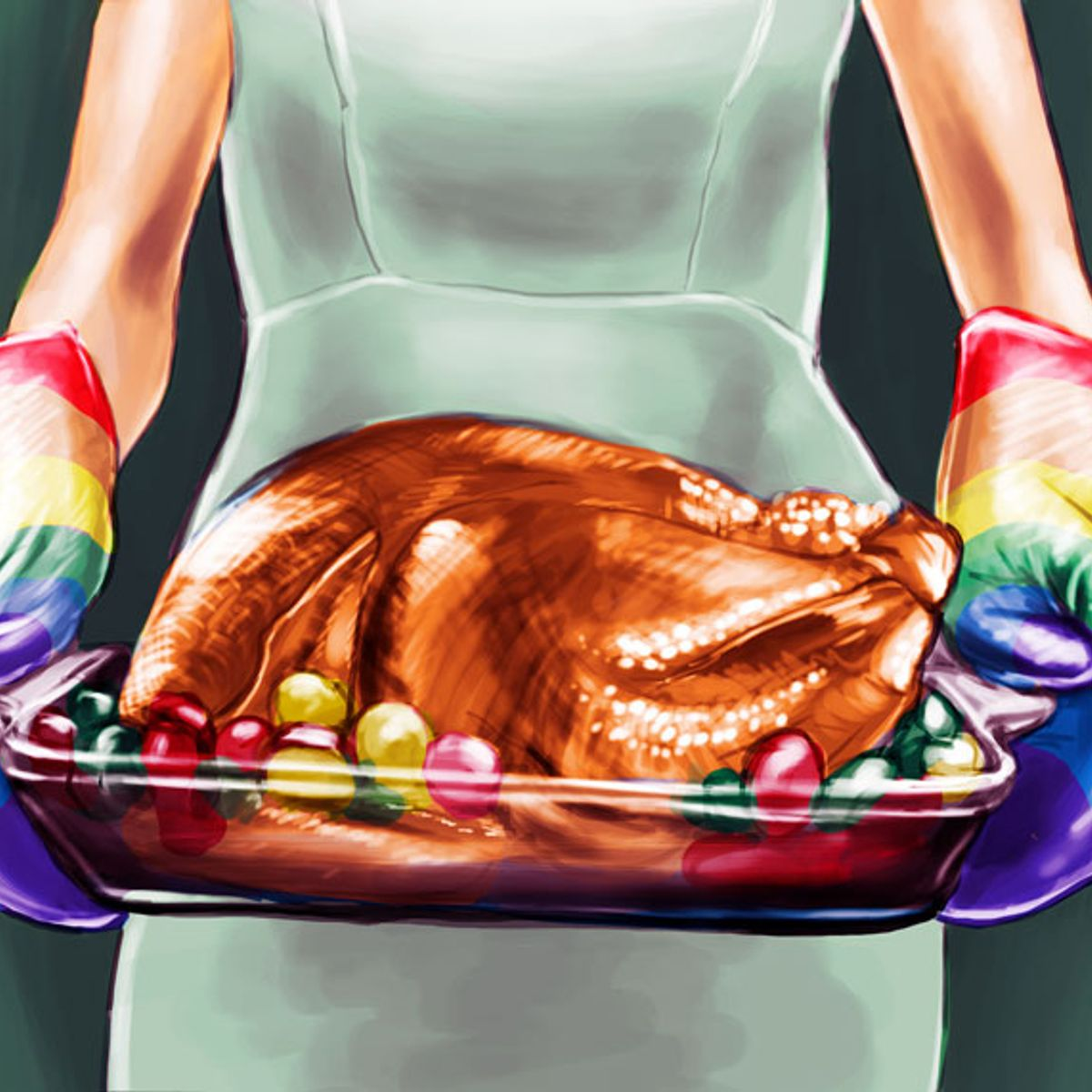 The Thanksgiving this vegetarian finally gave in and cooked a turkey