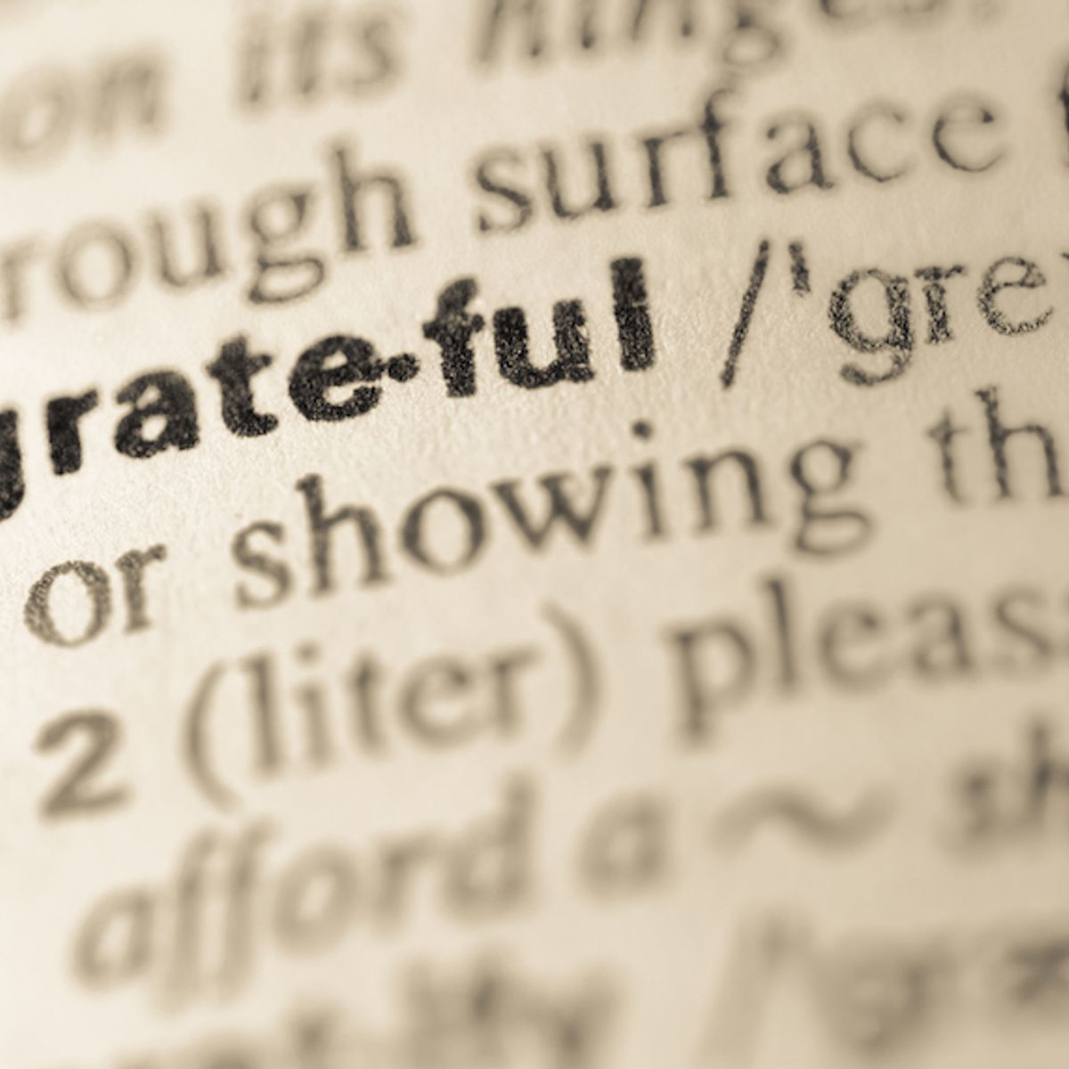 Are you as grateful as you deserve to be?