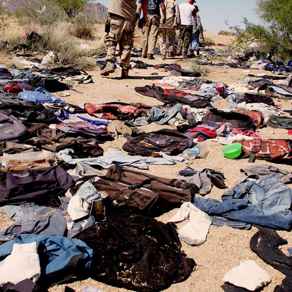 """""""Finding the bones was heartbreaking"""": What I learned about migrants picking up trash at the border"""