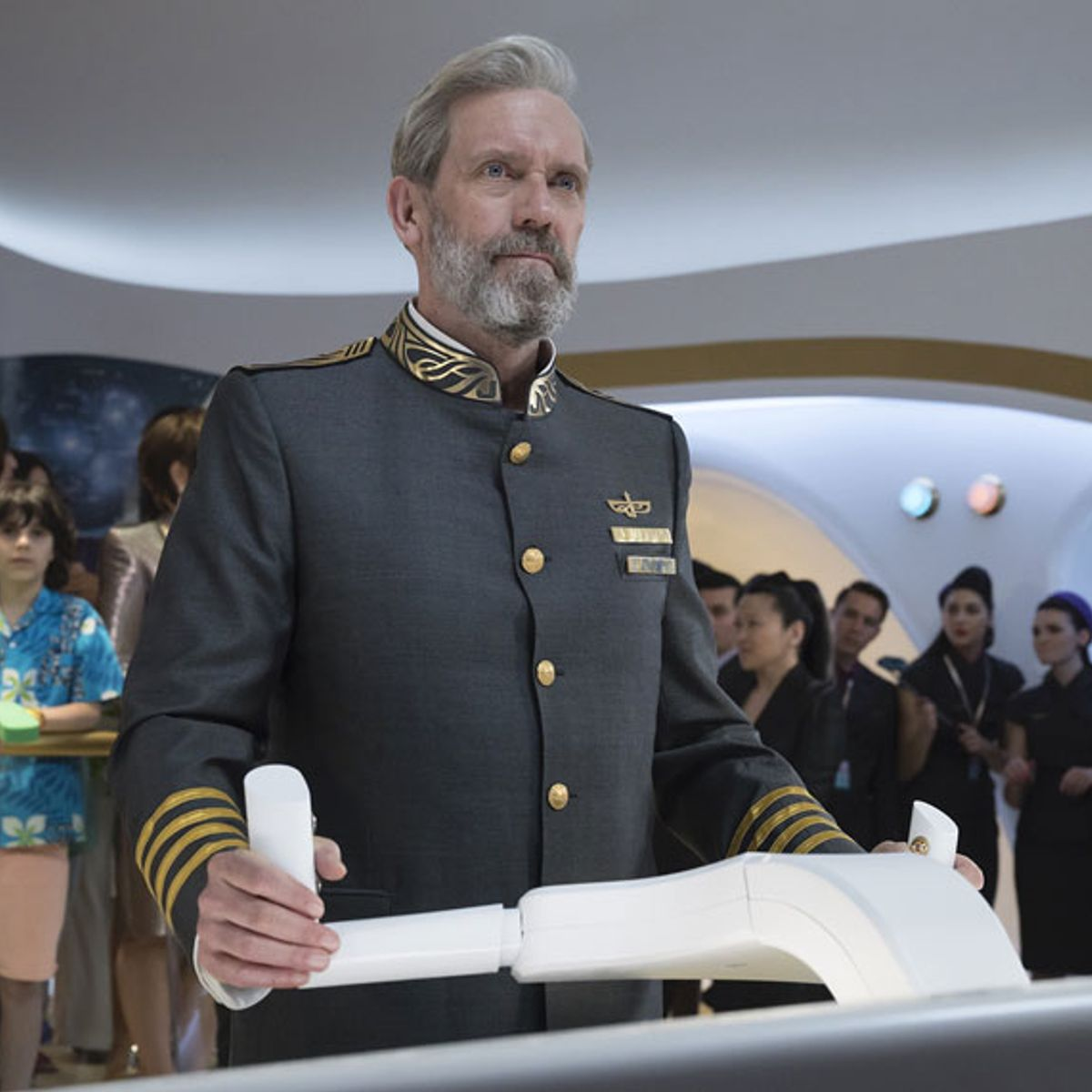 "Watch Hugh Laurie as a luxury space cruise captain in HBO's farcical ""Avenue 5"" trailer"