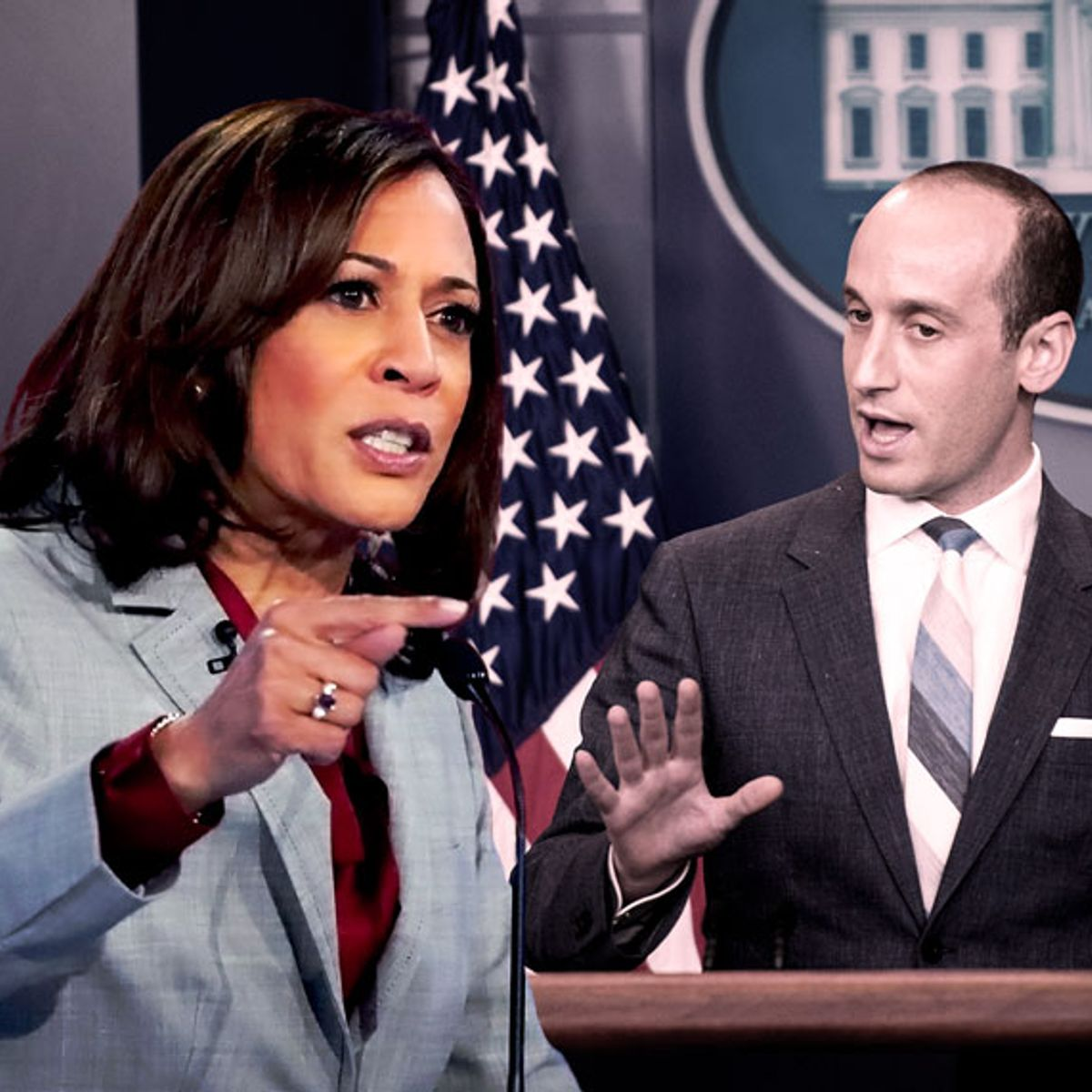 Kamala Harris leads 27 Senate Democrats in call for Trump to fire Stephen Miller