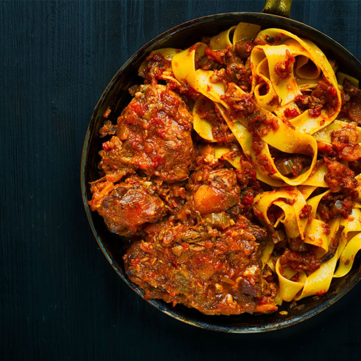 This hearty oxtail ragù is the perfect dish for winter dinner parties