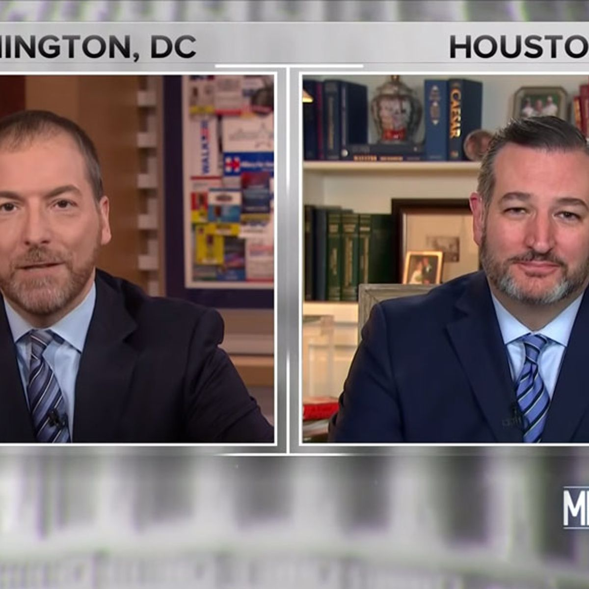 """GOP's Ted Cruz draws laughs after pushing debunked Ukraine conspiracy theory on """"Meet the Press"""""""