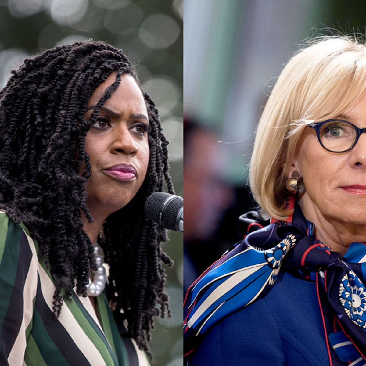 "Ayanna Pressley skewers Betsy DeVos for comparing abortion rights to slavery: ""Say this to my face"""
