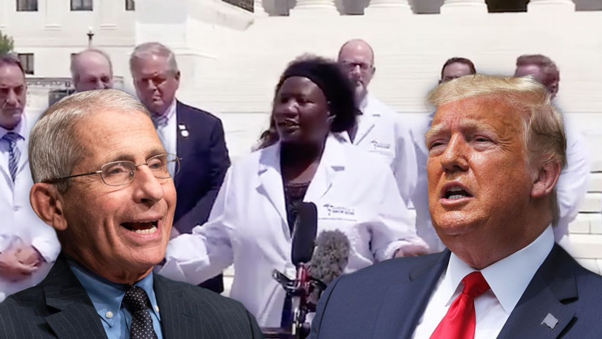 Doctor Retweeted By President Trump Asks Dr Fauci For Urine Sample Warns Of Having Sex With Demons Salon Com
