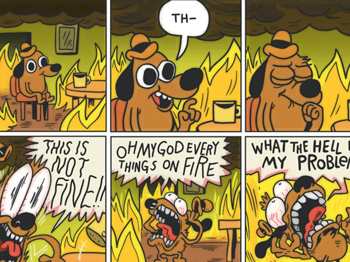 """This is fine"""" cartoonist on why it's not fine, after all: It's """"a response  to how weird and bad 2016 has made me feel"""" 