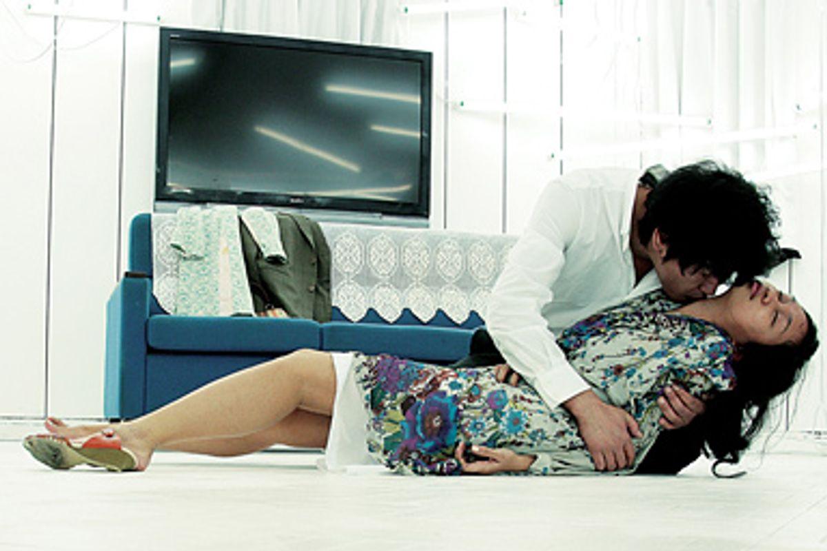 "Rose Byrne and Hugh Dancy in ""Adam."""