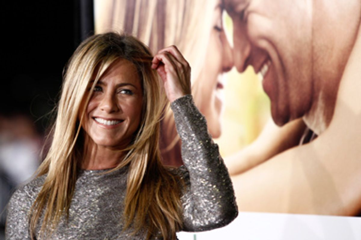 """Cast member Jennifer Aniston arrives at the premiere of """"Love Happens"""" in Los Angeles on Tuesday, Sept. 15, 2009."""