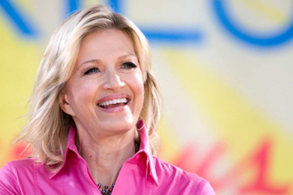 """Diane Sawyer appears on ABC's """"Good Morning America"""" show, in New York, Friday, August 21, 2009."""
