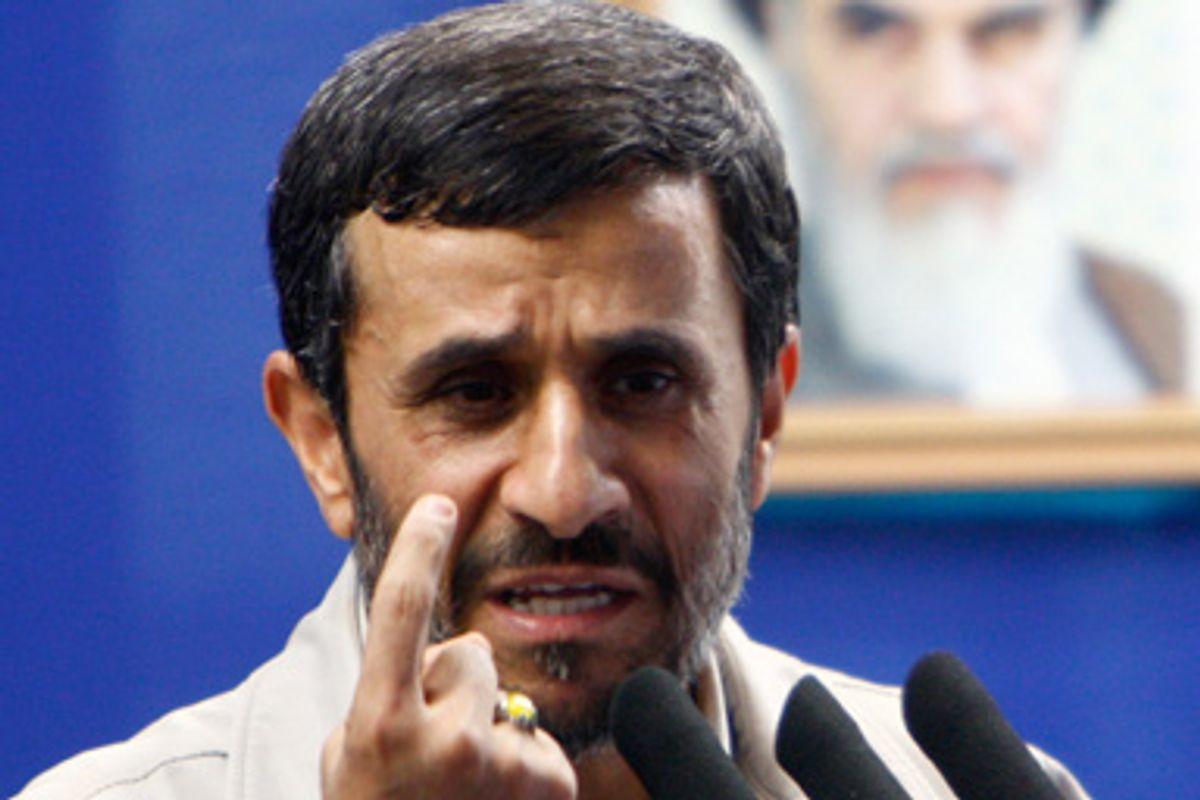 Iran's President Mahmoud Ahmadinejad speaks before Friday prayers in Tehran September 18, 2009.