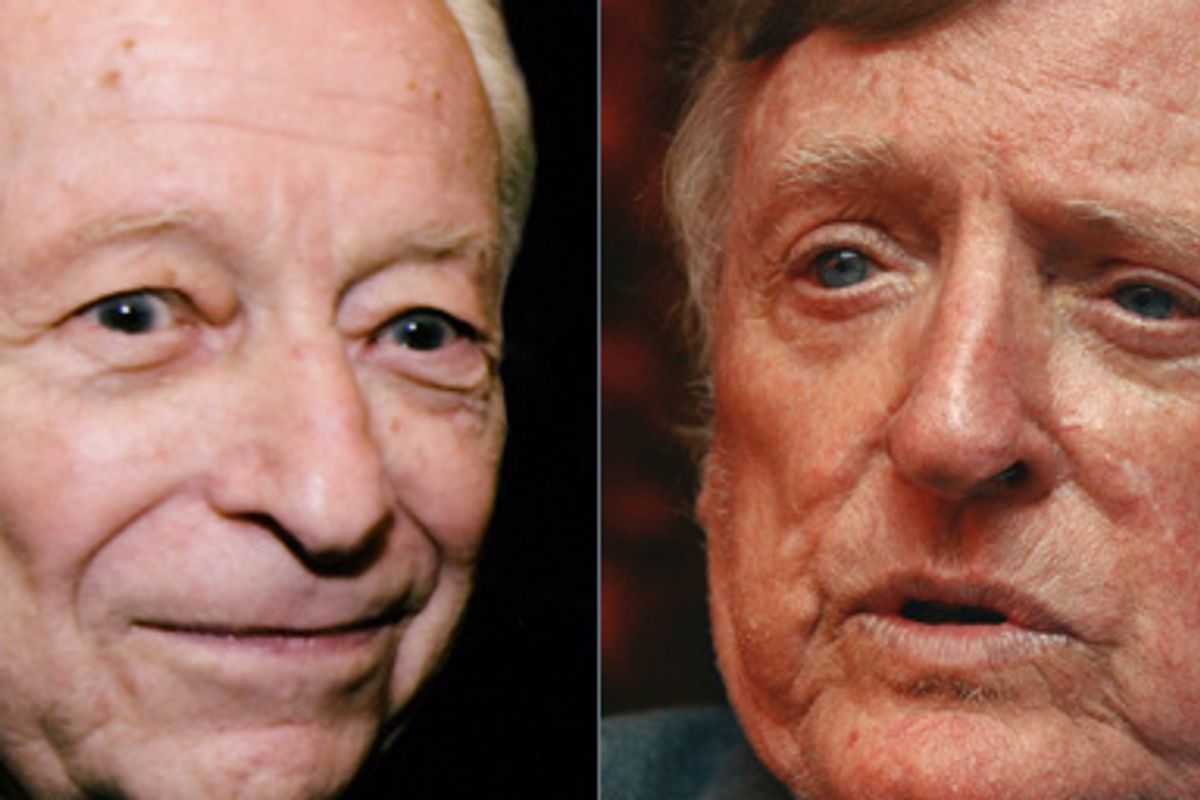 Left: Irving Kristol, who died Friday, September 18, 2009. Right: William F. Buckley Jr., who died Wednesday morning, Feb. 27, 2008.