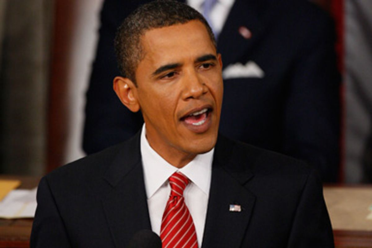 President Barack Obama delivers a speech on healthcare to a joint session of Congress