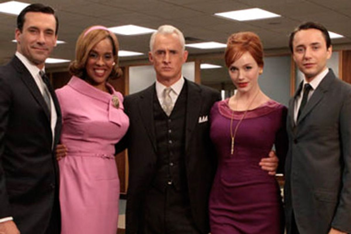 Gayle King with Mad Men cast members