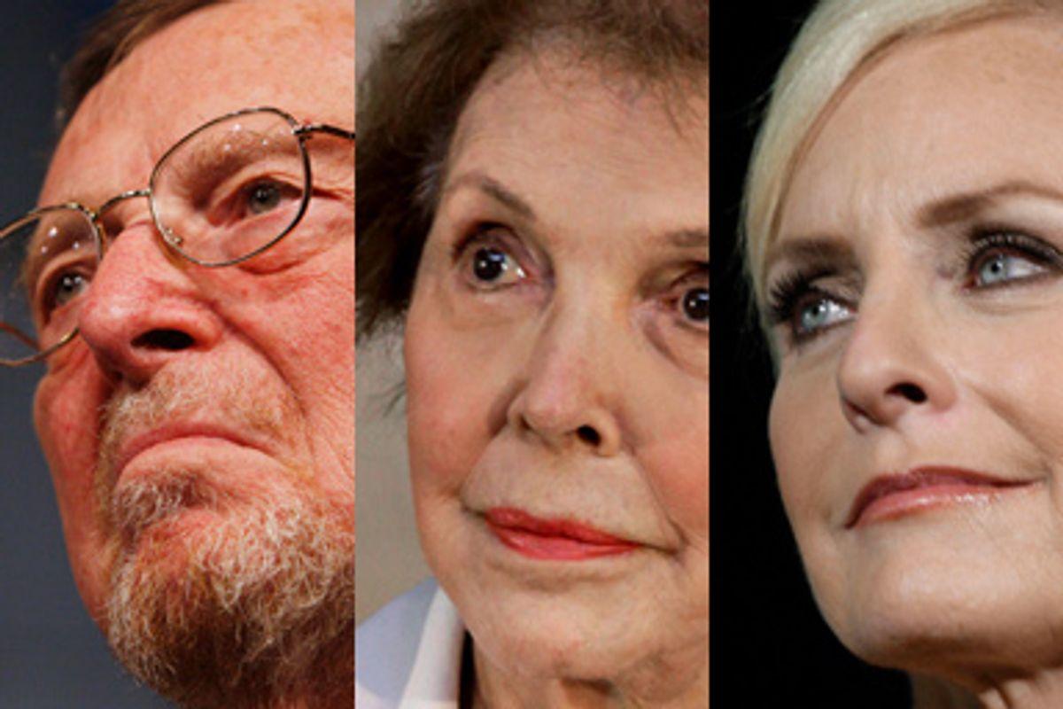 Pete Domenici, Nancy Reagan, Cindy McCain