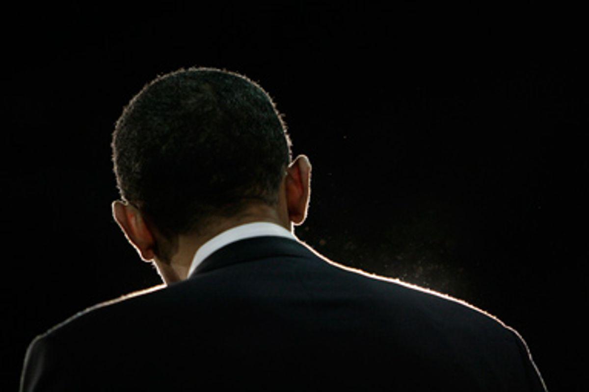 President Barack Obama in April, 2008