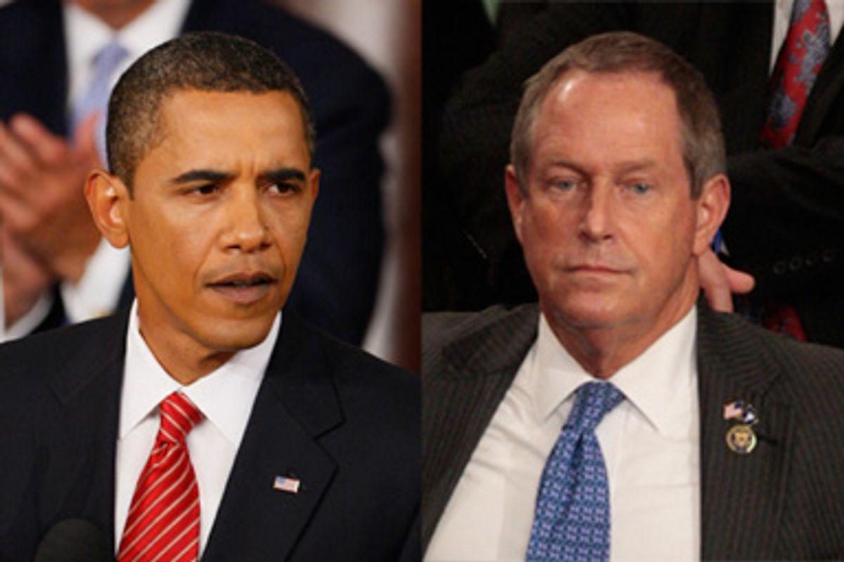 President Obama and Rep. Joe Wilson