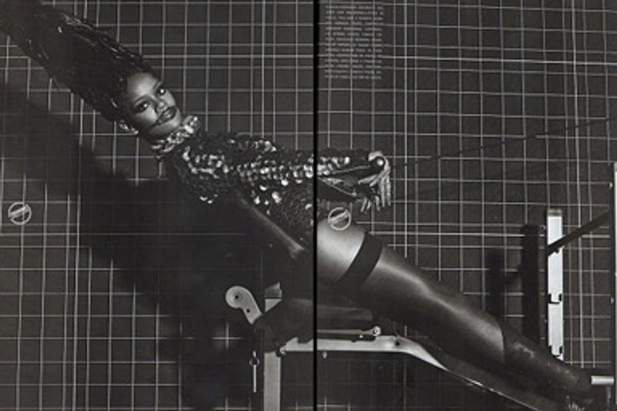 Rihanna poses in Italian Vogue.