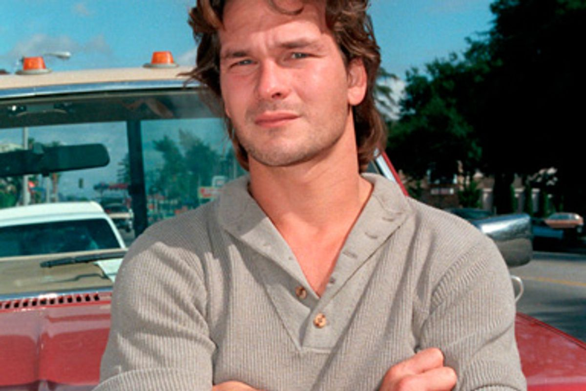 Actor Patrick Swayze is shown in Los Angeles in this 1985 photo.