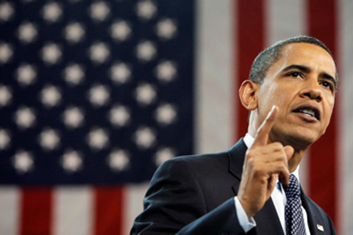 In this July 29 2009 file photo President Barack Obama gestures during a town hall on health care reform, at Broughton High School in Raleigh, N.C.