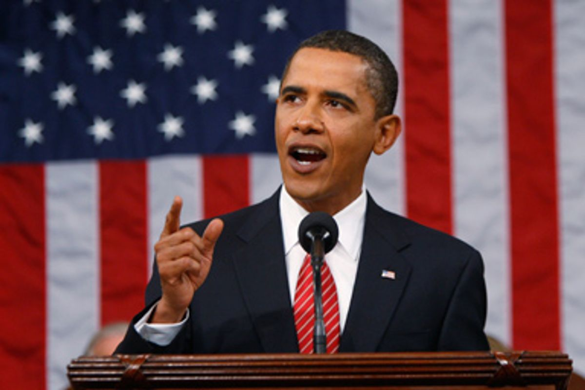 President Barack Obama speaks to a joint session of Congress on healthcare at the U.S. Capitol in Washington, on Wednesday, Sept. 9, 2009.