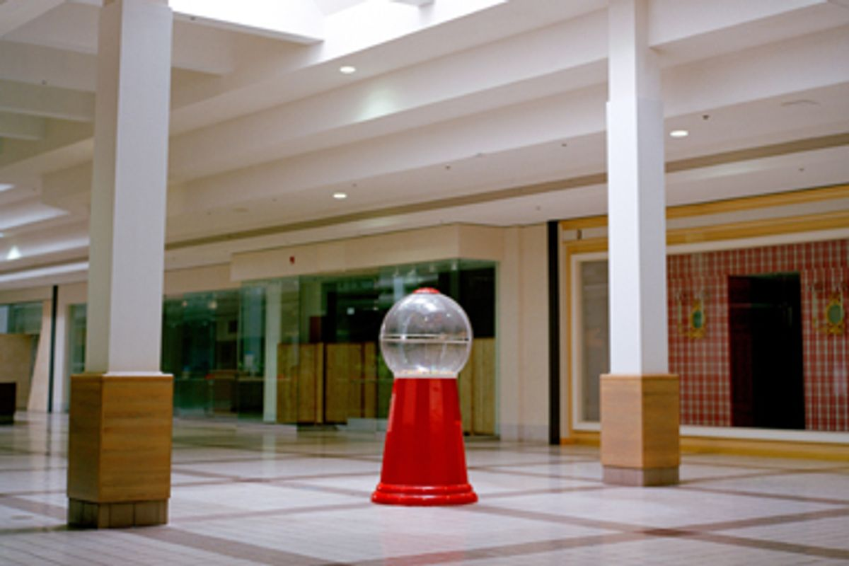 The interior of the Summit Place Mall, classified as a dead mall, is seen on the outskirts of Pontiac, Mich.