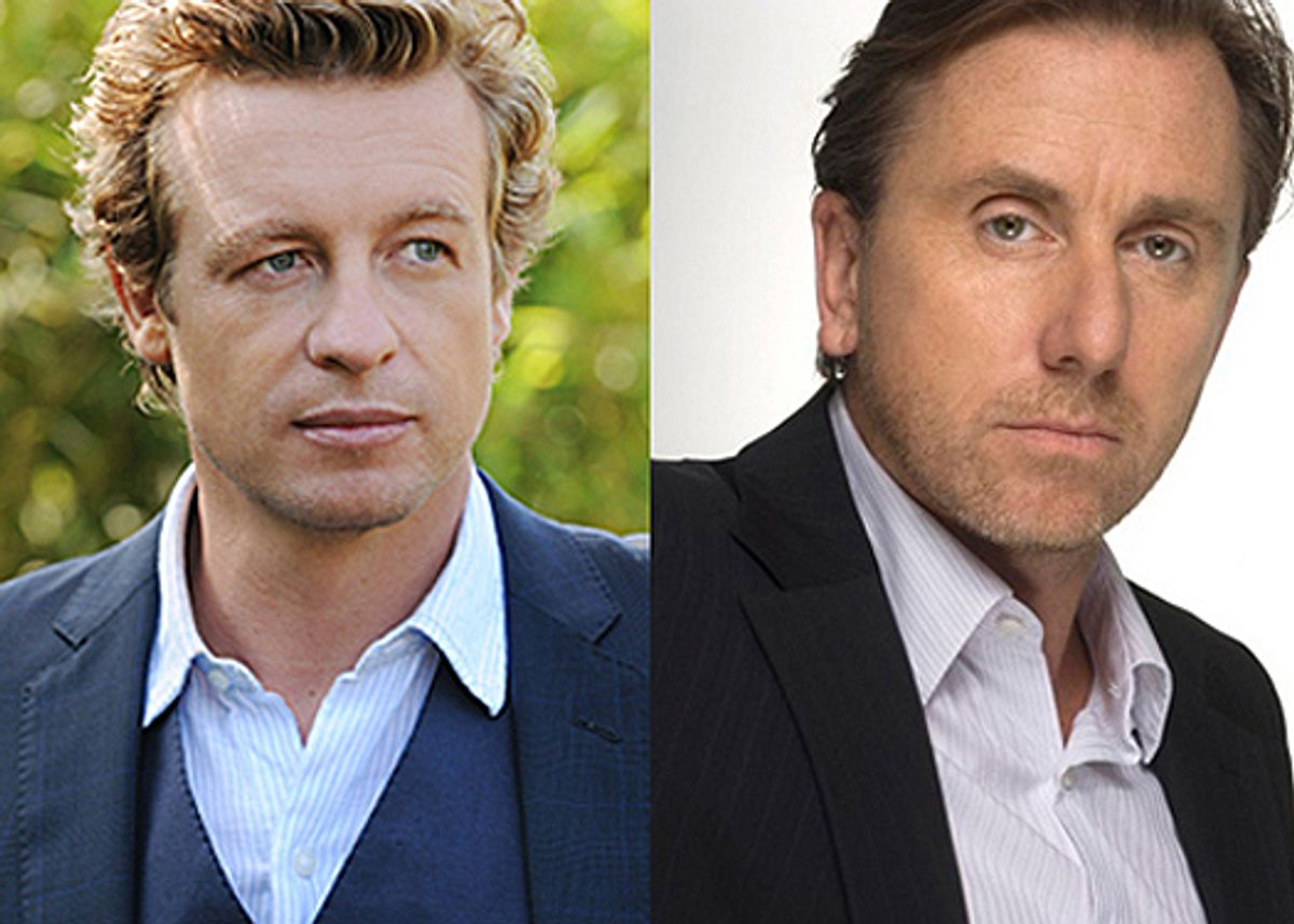 """Simon Baker from """"The Mentalist"""" and Tim Roth from """"Lie to Me"""""""