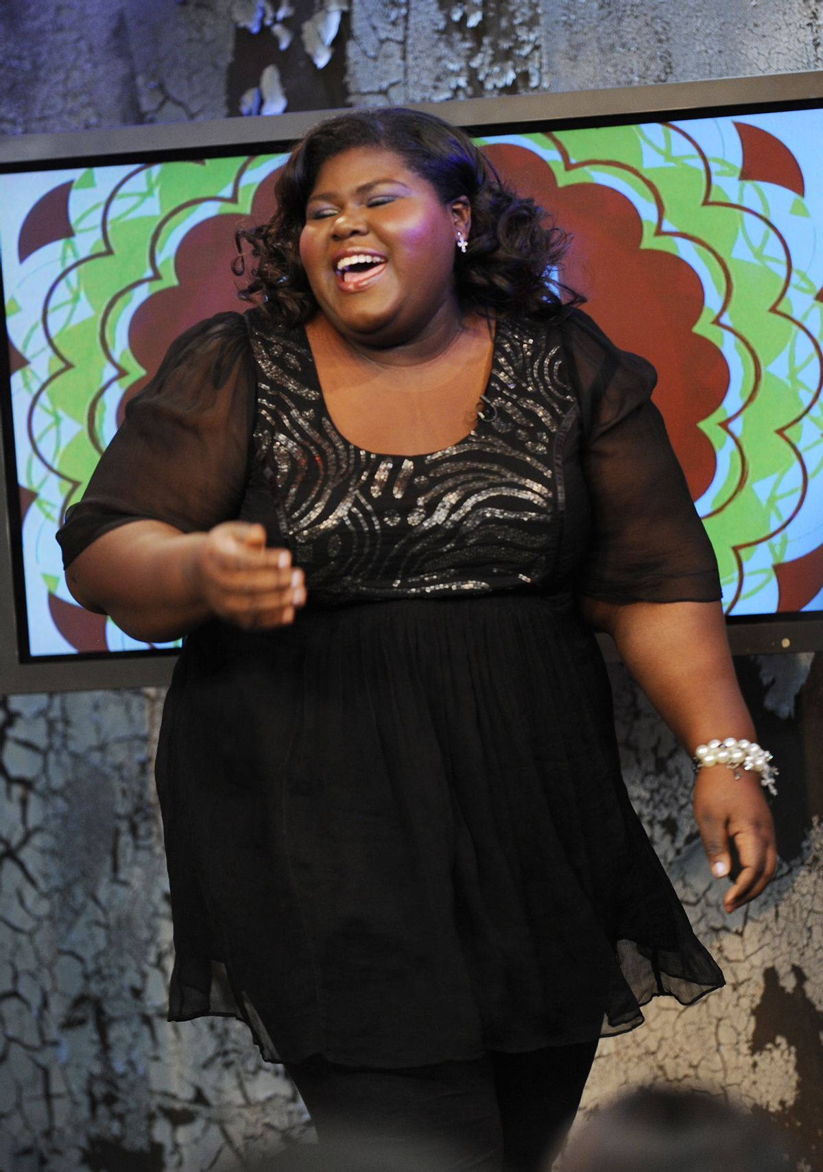 """NEW YORK, NY - NOVEMBER 4:  EXCLUSIVE  Actress Gabourey """"Gabby"""" Sidibe appears on the set of MTV's """"It's On with Alexa Chung"""" at the MTV Times Square Studios on November 4, 2009 in New York City.  (Photo by Scott Gries/PictureGroup) via AP IMAGES (Scott Gries/picturegroup Via Ap Images)"""