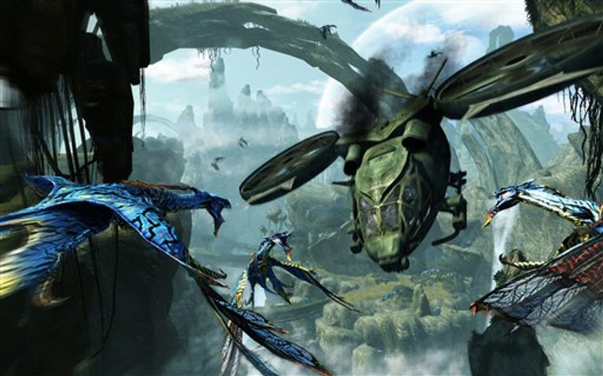 """In this video game image released by Ubisoft, a scene is shown from """"Avatar:The Game."""" (AP Photo/Ubisoft)   (AP)"""