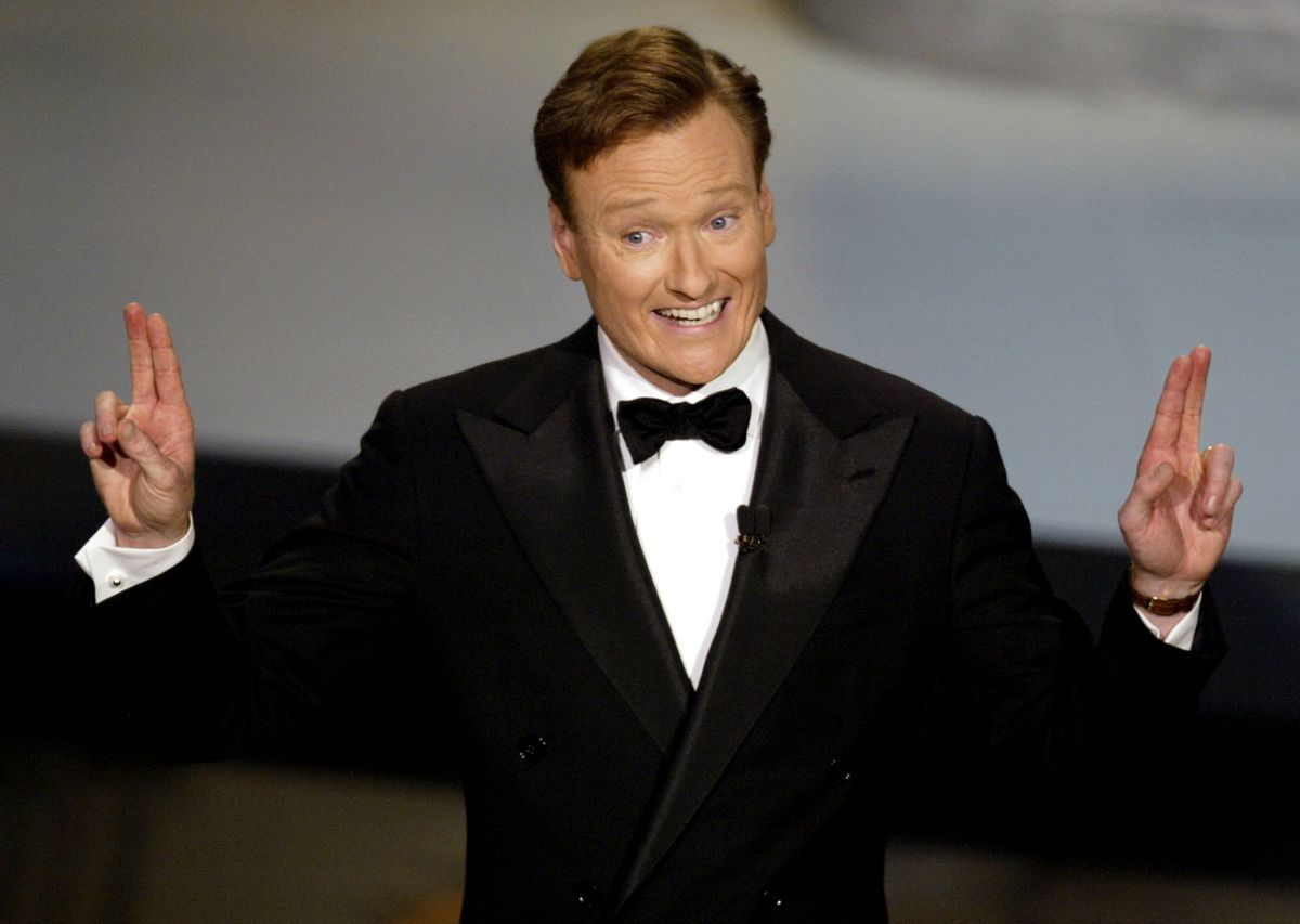 Talk show host Conan O'Brien hosts the 54th annual Emmy Awards in Los Angeles September 22, 2002. (© Adrees Latif / Reuters)