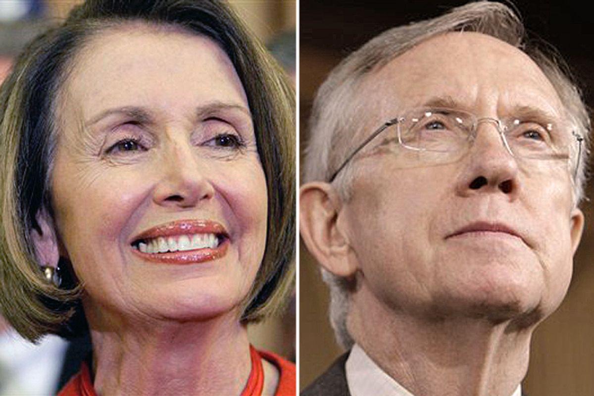 House Speaker Nancy Pelosi, left, and Senate Majority Leader Harry Reid