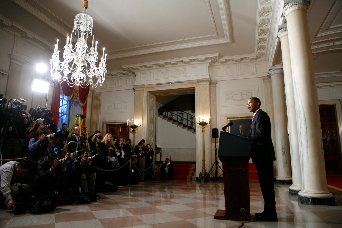 President Obama speaks about plans to thwart future terrorist attacks, on Jan. 5, at the White House.