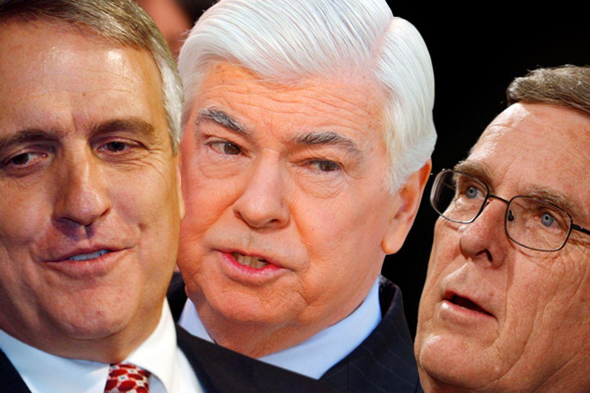 Colorado Gov. Bill Ritter, Sen. Chris Dodd, D-Conn., and Sen. Byron Dorgan, D-N.D.