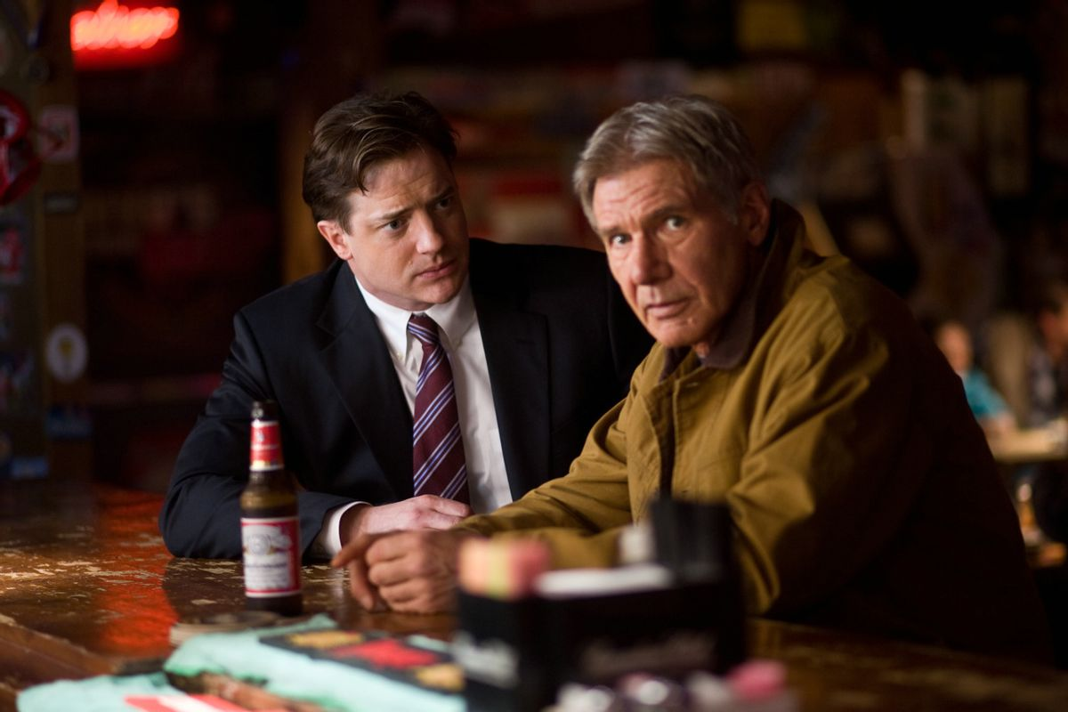 John Crowley (Brendan Fraser) and Dr. Robert Stonehill (Harrison Ford)