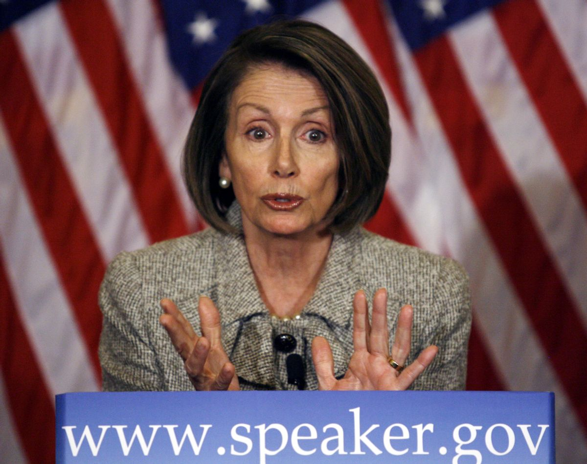 House Speaker Nancy Pelosi of Calif. speaks during a news conference on Capitol Hill in Washington on Thursday, Jan. 21, 2010. (AP Photo/Jose Luis Magana) (Associated Press)