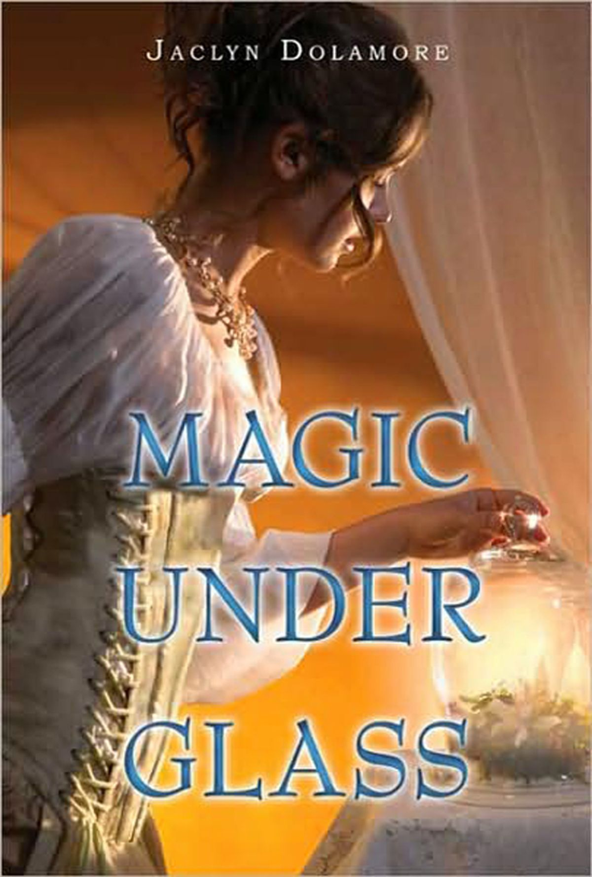 """Detail from cover of """"Magic Under Glass"""""""