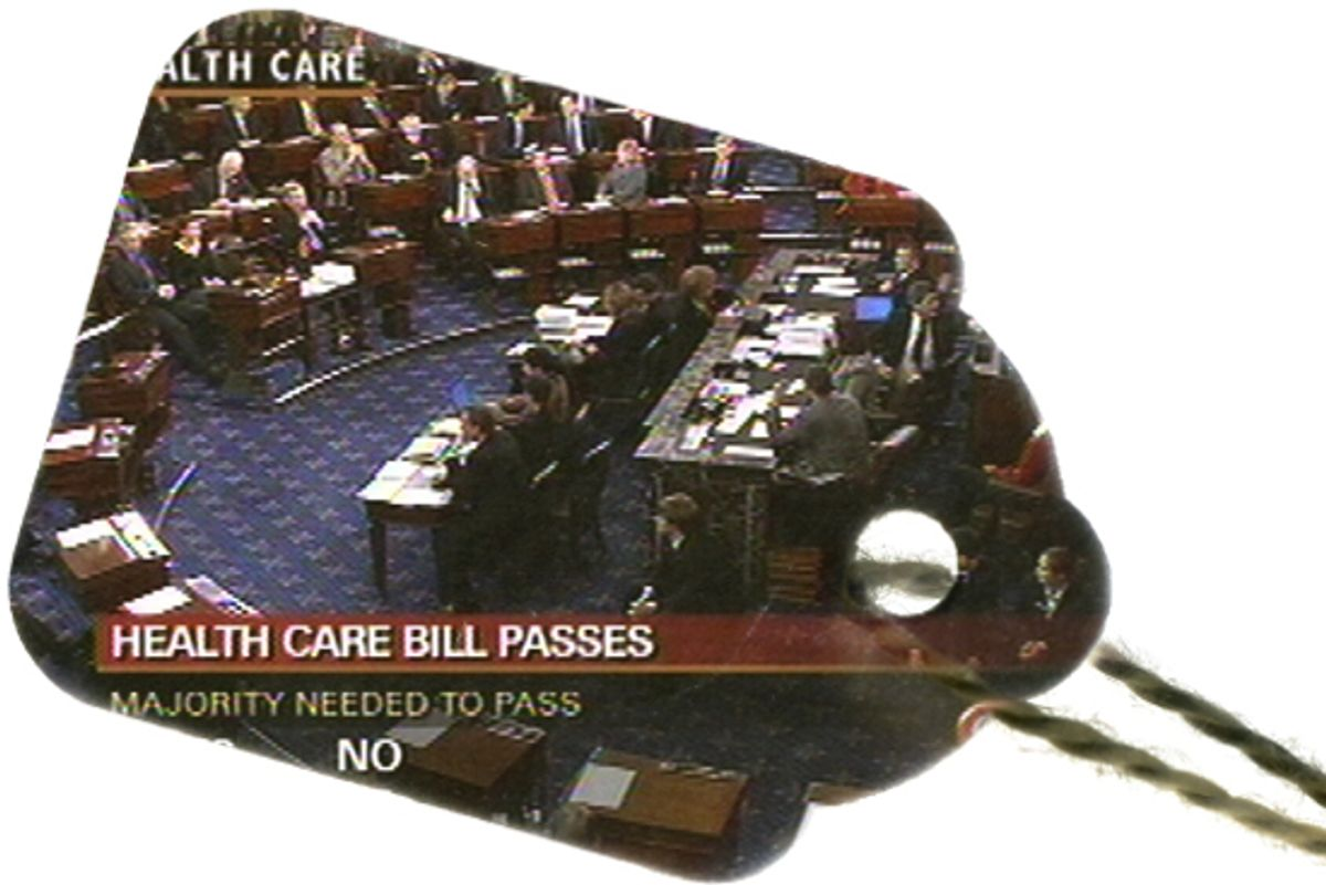 The U.S. Senate passes the health care overhaul bill Thursday Dec. 24, 2009