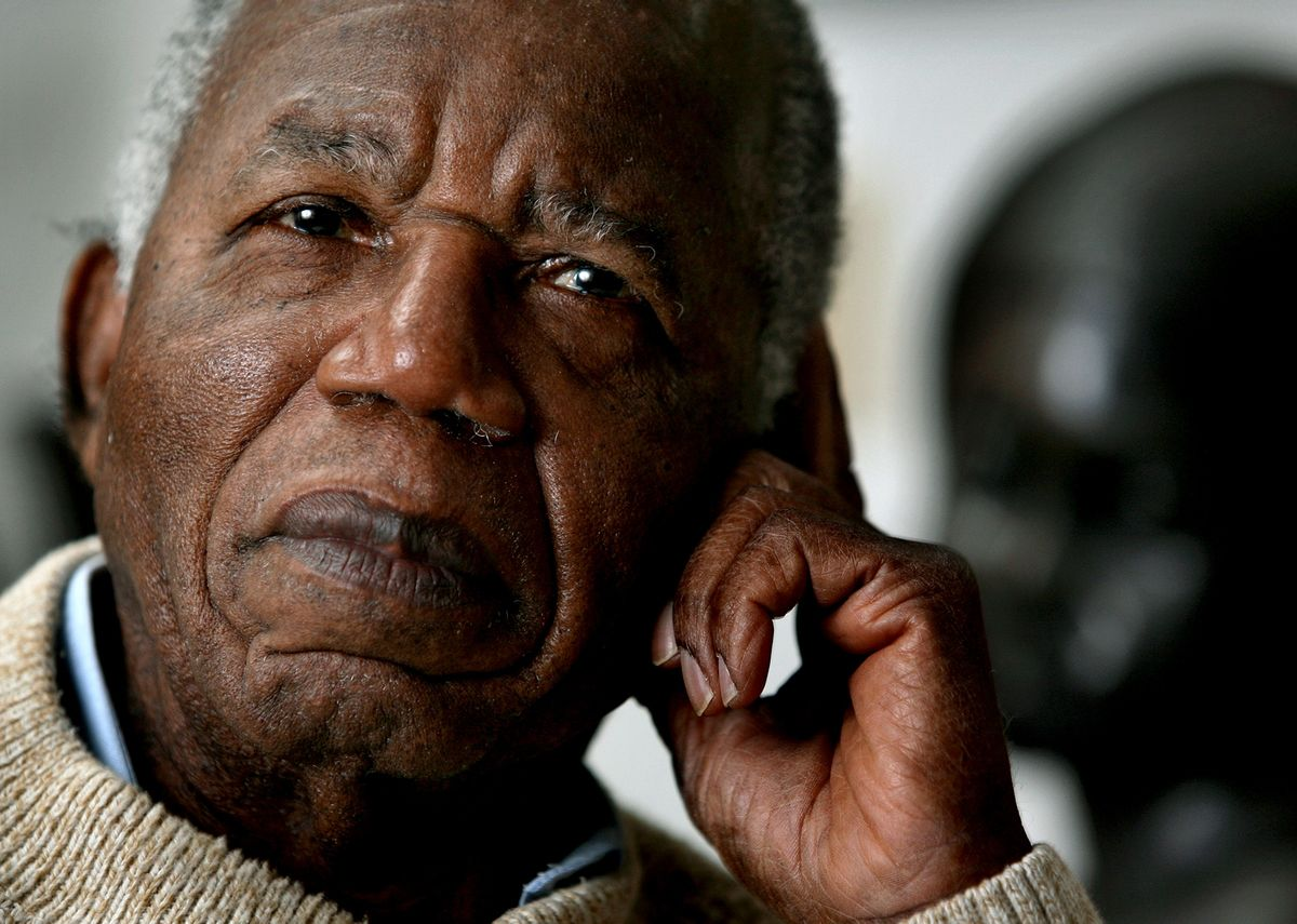 Chinua Achebe, Nigerian-born novelist and poet poses at his home as he reflects on his works and life at his home on the campus of Bard College in Annandale-on-Hudson, New York where he is a professor Tuesday, Jan. 22, 2008. (AP Photo/Craig Ruttle)  (Associated Press)