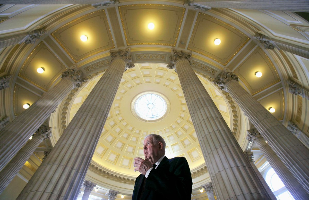 U.S. Rep. John Murtha (D-PA) is seen on Capitol Hill in Washington March 19, 2007. Murtha has been an outspoken opponent to the war in Iraq, which marked its fourth anniversary today.  REUTERS/Jim Young  (UNITED STATES) (Reuters)