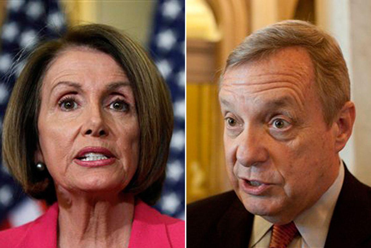 House Speaker Nancy Pelosi and Sen. Dick Durbin, D-Ill.