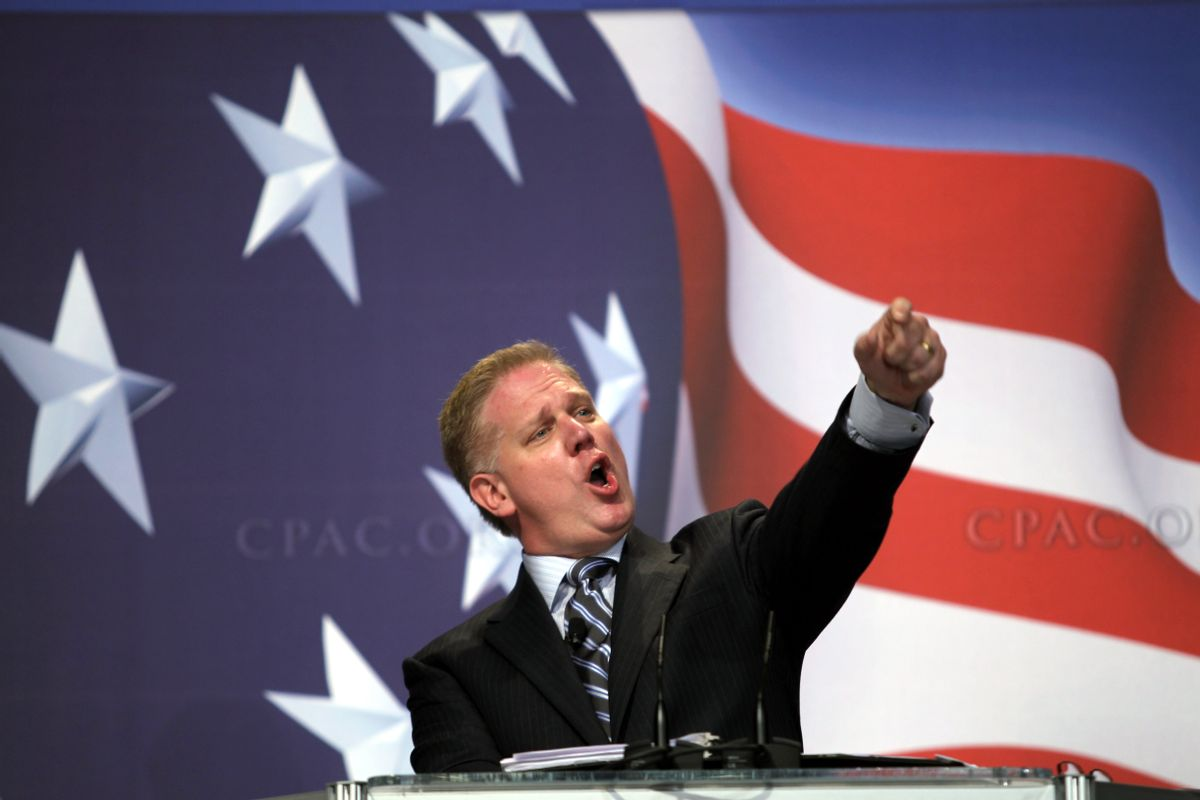 T.V. host Glenn Beck addresses the Conservative Political Action Conference (CPAC)  in Washington on Saturday Feb. 20,2010.(AP Photo/Jose Luis Magana) (Jose Luis Magana)
