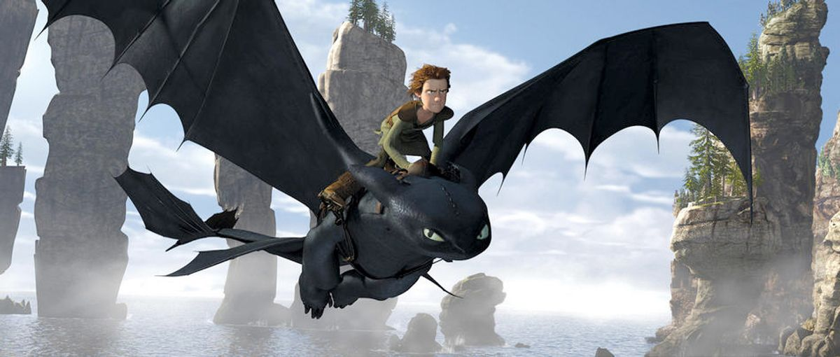 Hiccup and Toothless the dragon