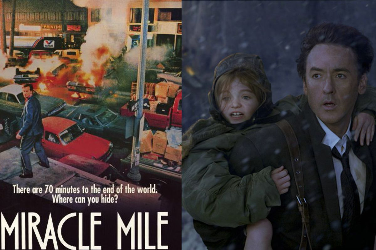 """""""Miracle Mile"""" and a still from """"2012"""""""